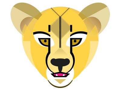 Cheetah Stage 2... animal progress geometric cheetah