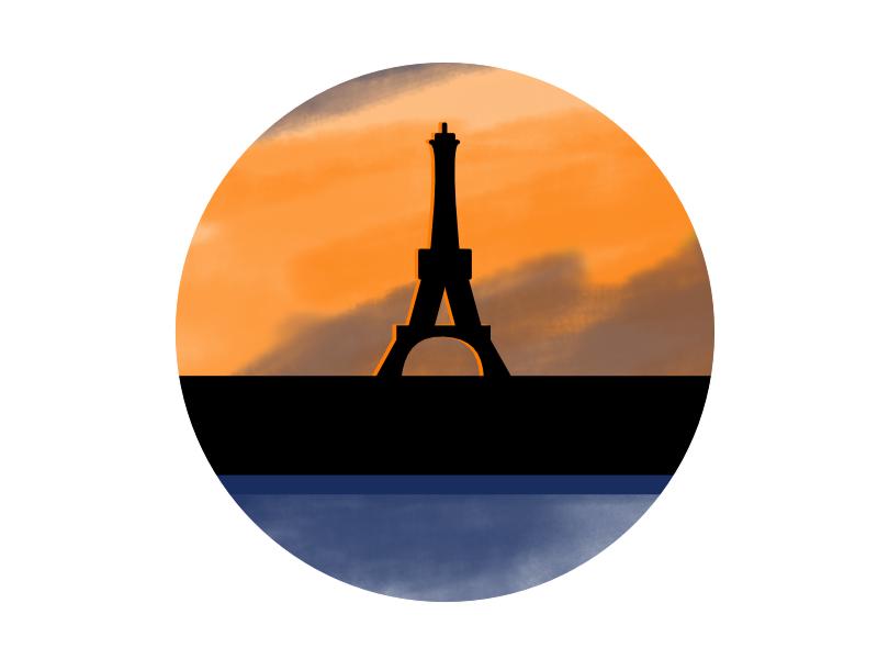 Paris eiffel paris cityview typehue