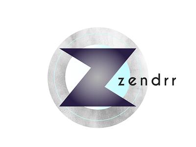 Zendrr logo texture balance zen brandom typehue