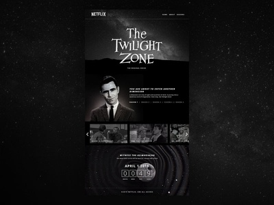 Twilight Zone Web Mock netflix twilight zone website design web design