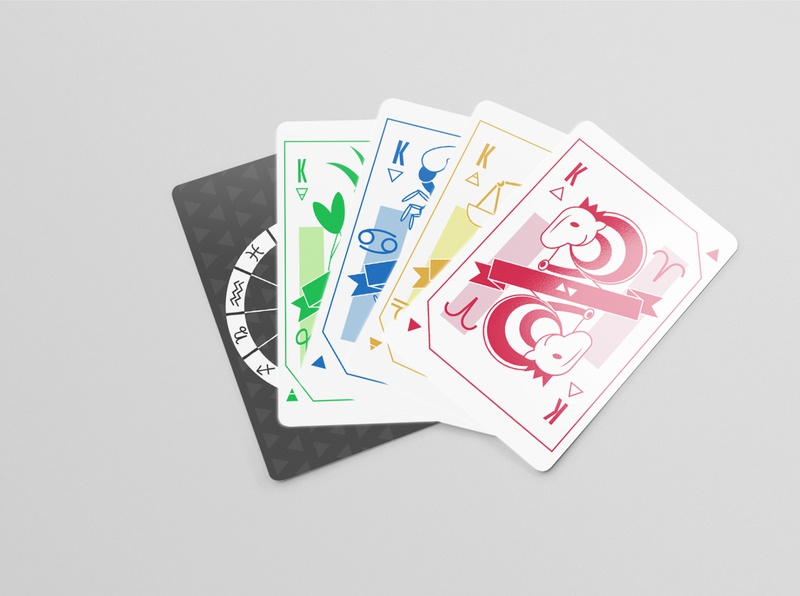 Zodiac Deck of Cards print design zodiac deck of cards
