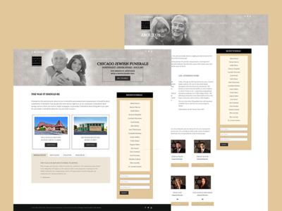 Chicago Jewish Funerals wordpress web development wed design
