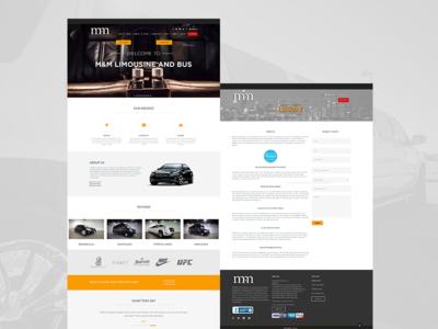M&M Limousine wordpress web development web design website