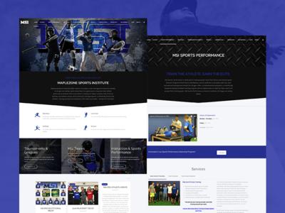 Maplezone Sports Institute wordpress web development web design website