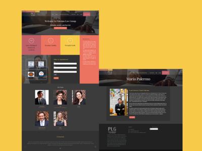 Palermo Law Group wordpress web development web design website