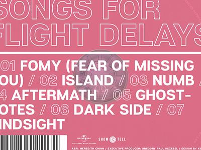 "Sebell ""Songs For Flight Delays"" umusic universal music universal rb pop pantone transparent sticker jewel case cd packaging album artwork"