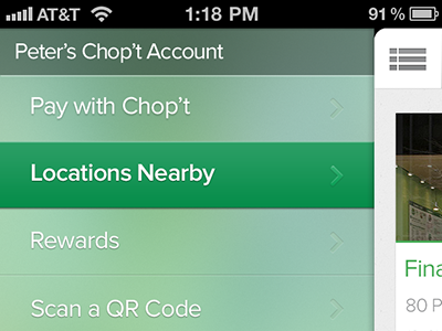 Chopt Proposal ios green kinda flatish