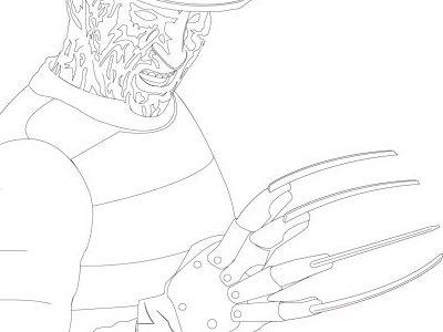 Freddy outline illustrator sketch