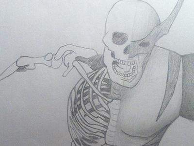Wolverine print illustration wolverine xmen skeleton teeth badteeth