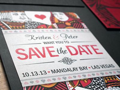 Wedding invites wedding vegas king queen cards
