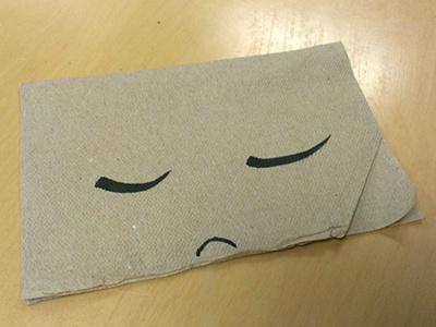 Sadkin napkin sad illustration