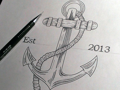 Anchors Away illustration ahoy matey anchor tshirt