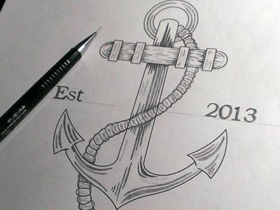 Anchors Away illustration ahoy matey anchor tshirt
