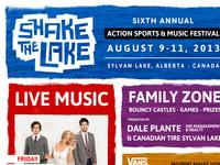 Shake The Lake 2013 Poster