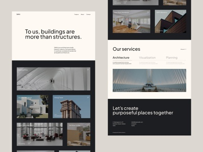 SAKA - Architecture Studio typography web design simple interior studio architecture white space minimal landing page clean design figma design