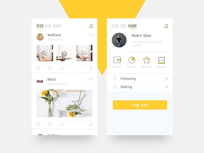 U-buy app concept pics homepage icon application shopping