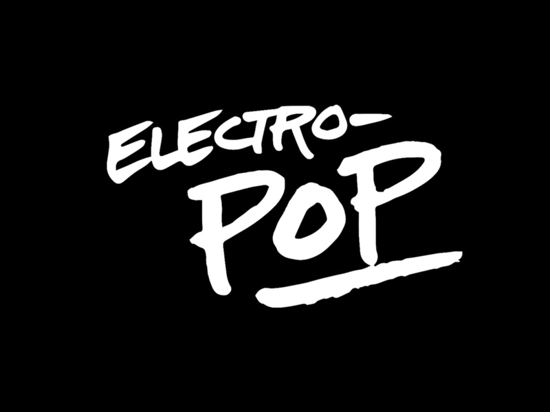 Electro Pop music lettering
