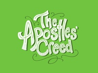 The Apostles' Creed Lettering