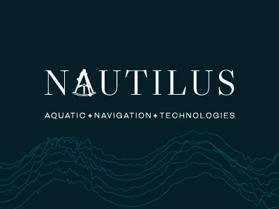 Nautilus Logo compass water naval sea ocean branding corporate technology aquatics nautilus design logo