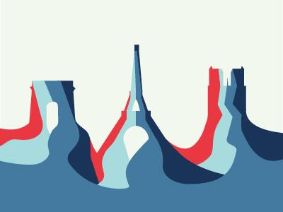 Paris Landmark Illustration flat illustration notre dame eiffel tower minimal clean landscape landmark tower church france illustration paris