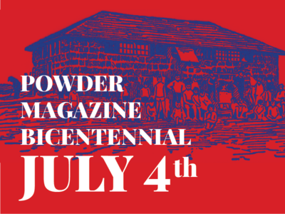 Bicentennial Celebration Cover bicentennial magazine powder white blue red duotone merica holiday celebration america independence