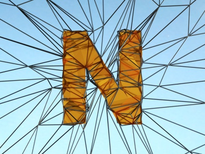 Day 14 Letter N 36daysoftype design graphic render web net lettering 3d letter typo typography type