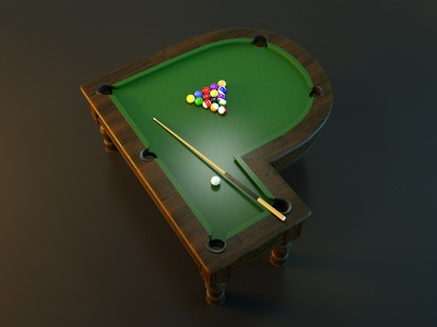 Day 16 Letter P 36daysoftype design graphic billiards pool lettering creative 3d letter typo typography type