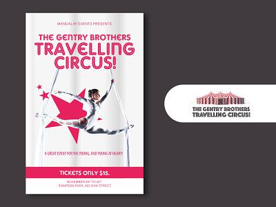 Travelling Circus V2 creative art clean dance stars event imadhadad circus creativity poster illustrator canada 2020 photoshop