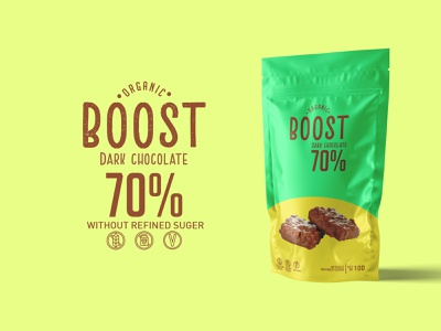 Boost Dark Chocolate packaging package design package design poster art new montreal illustrator creativity poster 2020 canada photoshop