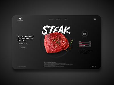 Steakhouse ios icon mobile ui website builder webdesign photoshop identity steak logo xd design poster art new typography ux branding montreal ui creativity design canada