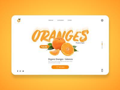 Oranges creative logo website design web organic orange fruit ui design ux ui design poster art new montreal illustrator poster creativity 2020 photoshop canada