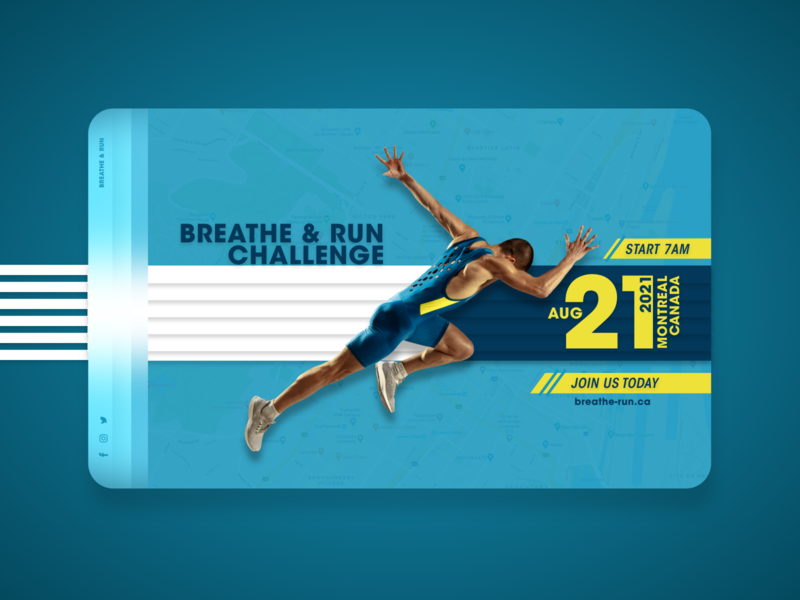 Breathe & Run imadhadad nike map events creative run website xd xd design event design branding poster ui poster art montreal creativity 2020 photoshop canada