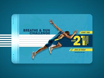 Breathe & Run imadhadad nike map events creative run website xd xd design event design branding poster ui poster art montreal creativity 2020 photoshop canada