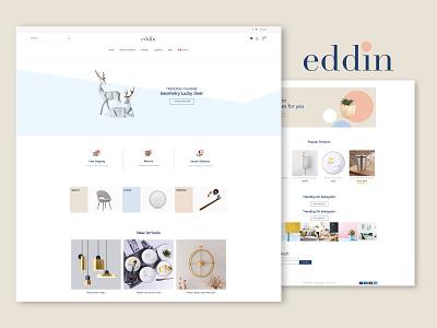 Eddin.ca photoshop illustrator sketch shop branding corporate identity logo online shop online 2020 montreal canada prototype grapgic design ui design ui online store