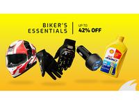 biker's essential sale banner