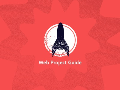 Web Project Guide Rocket rocket textured logo icon