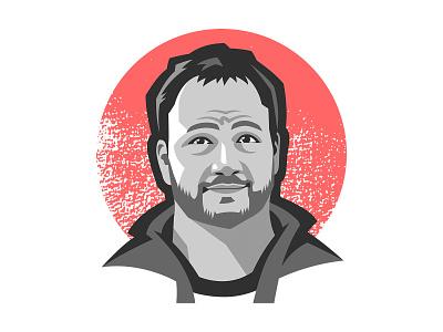 Portrait of Corey Vilhauer textrured vector illustration portrait