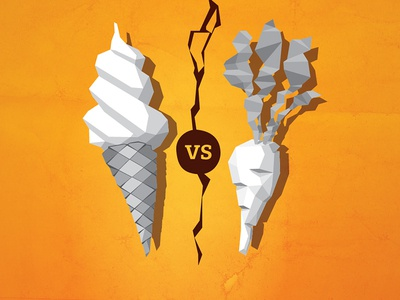 Tension tension carrot ice cream illustration faceted