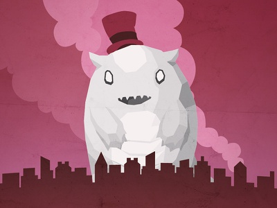 Chasing A Monster Idea hat skyline city monster