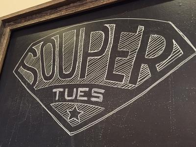 Souper! typography sign chalkboard