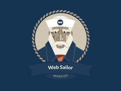 Sailor outlines vector nautical sailor