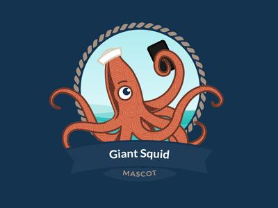 Squid selfie outlines vector nautical squid