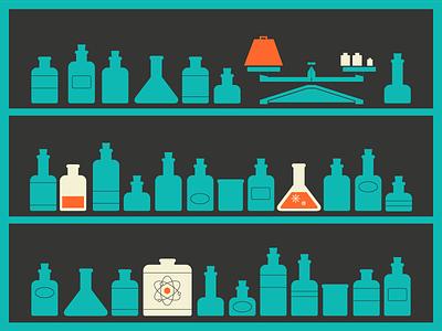 Bottles chemicals lab scale bottles