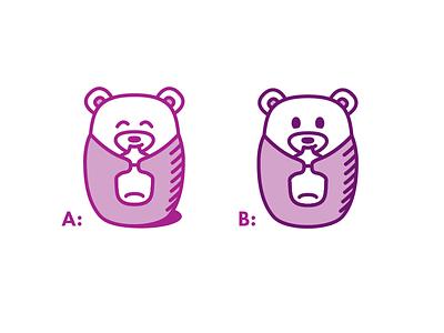 Baby Bear Options bottle baby bear monoline icon