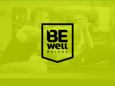 Be Well @ Blend logo option wellness logo badge fitness