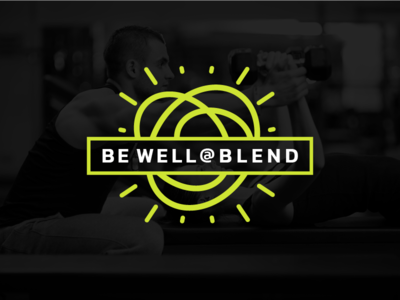 Be Well @ Blend Logo wellness logo fitness