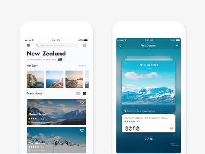 Travel ux ui travel social navigation flow find concept card app