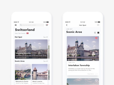 Travel ios11 ui travel social  navigation flow find concept card app