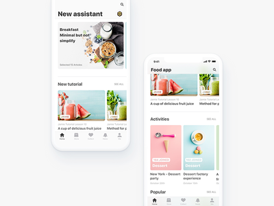 Food Application ux ui iphone x services catering layout ios11 application food