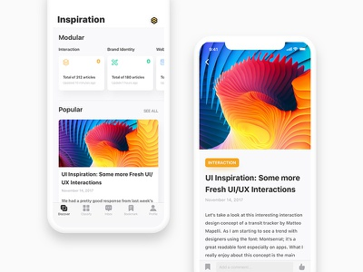 Inspiration Magazine read color rainbow magazine layout uiux ios11